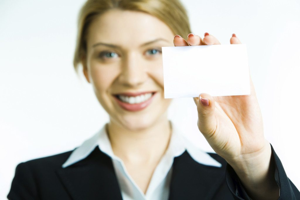 Image of professional's white business card